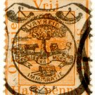 (I.B) Orange Free State Postal : Postcard Rate Overprint