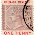 (I.B) Grenada Revenue : Duty Stamp 1d (postal)