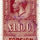 (I.B) George V Revenue : Foreign Bill £1 10/-