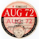 (I.B) GB Revenue : Car Tax Disc (Ford 1972)