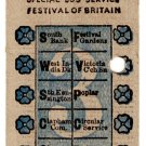 (I.B) Festival of Britain 1951 : Special Festival Bus Ticket 3d