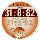 (I.B) GB Revenue : Car Tax Disc (Morris 1982)