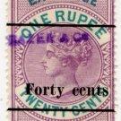 (I.B) Ceylon Revenue : Foreign Bill 40c on 1R 20c