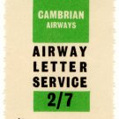 (I.B) Cambrian Airways : Airway Letter Service 2/7d