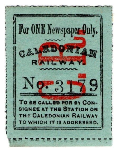 (I.B) Caledonian Railway : Newspaper Parcel