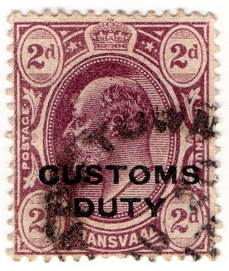 (I.B) Transvaal Revenue : Customs Duty 2d