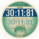 (I.B) GB Revenue : Car Tax Disc (Hillman 1981)