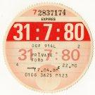 (I.B) GB Revenue : Car Tax Disc (Ford 1980)