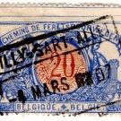 (I.B) Belgium Railways : Parcels 20c (Gilly-Sart-Allet 1907)