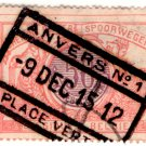 (I.B) Belgium Railways : Parcels 50c (Anvers 1912)