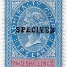 (I.B) QV Revenue : Admiralty Court Ireland 2/6d (1881)
