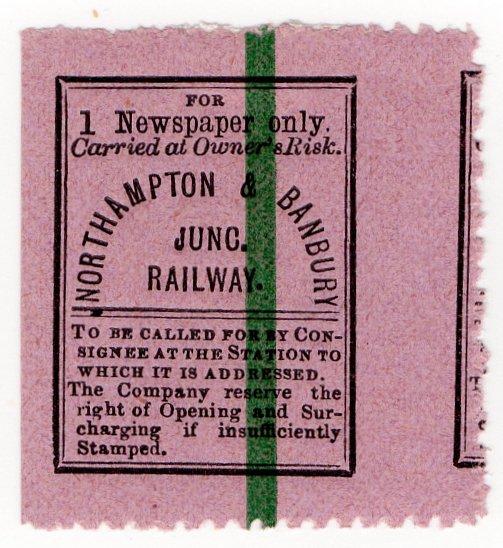 (I.B) Northampton & Banbury Junction Railway : Newspaper Parcel