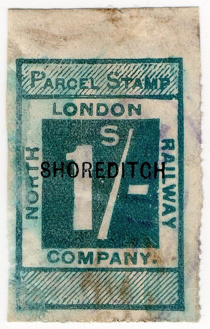(I.B) North London Railway : Parcel 1/- (Shoreditch)