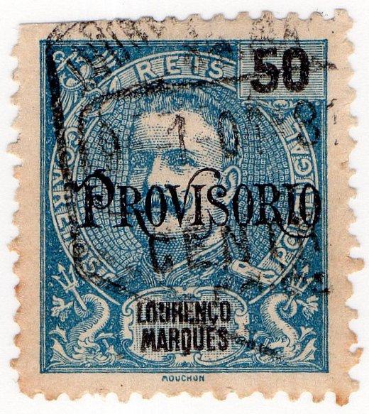 (I.B) Portugal Postal (Colonial) : Lourenco Marques 50c OP