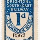 (I.B) London Brighton & South Coast Railway : Newspapers 1d