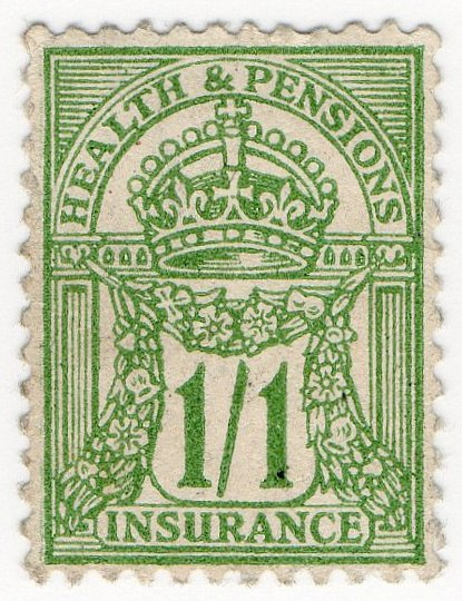 (I.B) George V Revenue : Health & Pensions Insurance 1/1d