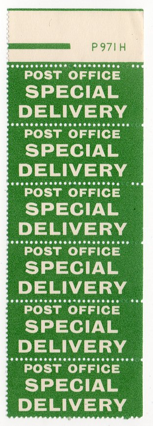 (I.B) George V Postal : Special Delivery Labels