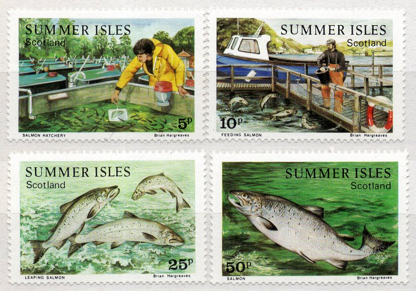 (I.B) Cinderella Collection : Summer Isles Local Post (Salmon Farming)