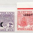 (I.B) Basutoland Postal : Postage Due Overprints Collection