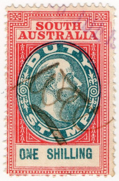 (I.B) Australia - South Australia Revenue : Stamp Duty 1/-