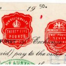 (I.B) Australia - NSW Revenue : Impressed Duty £37 5/-