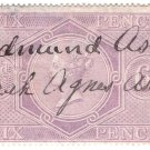 (I.B) QV Revenue : Inland Revenue 6d Reddish-Lilac (SG F12)