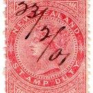 (I.B) New Zealand Revenue : Stamp Duty 6/-