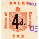(I.B) Guernsey Revenue : Sales Tax 4d (German Occupation)