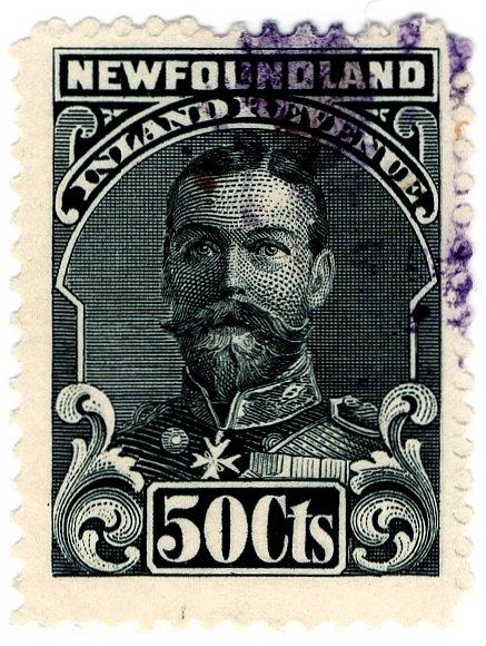 (I.B) Canada Revenue : Newfoundland Inland Revenue 50c