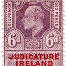 (I.B) Edward VII Revenue : Judicature Ireland 6d