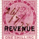 (I.B) Dominica Revenue : Duty Stamp 1/-
