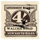 (I.B) Australia - NSW Railways Parcel 4/- (Walcha Road) inverted watermark