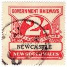 (I.B) Australia - NSW Railways Parcel 2/- (Newcastle) inverted watermark