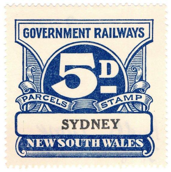 (I.B) Australia - NSW Railways Parcel 5d (Sydney)