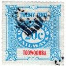 (I.B) Australia - Queensland Railways : Parcel 20c (Toowoomba)