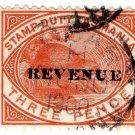 (I.B) Australia - Tasmania Revenue : Stamp Duty 3d (postal)