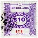 (I.B) Australia - Queensland Railways : Parcel $10 (Ayr)