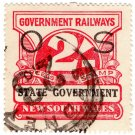 (I.B) Australia - NSW Railways Parcel 2/- (State Government) inverted watermark