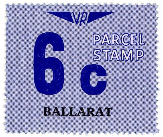 (I.B) Australia - Victoria Railways : Parcels 6c (Ballarat)