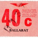 (I.B) Australia - Victoria Railways : Parcels 40c (Ballarat)
