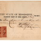 (I.B) US Revenue : Summons (Mississippi 1866) complete document