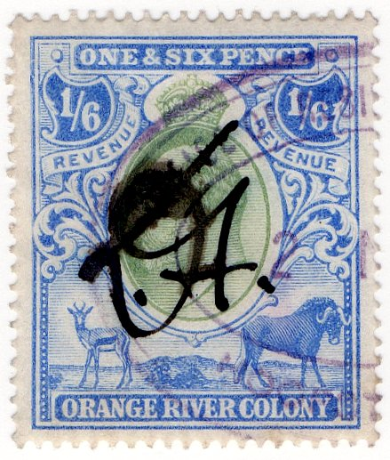 (I.B) Orange River Colony Revenue : Duty 1/6d