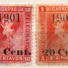 (I.B) Nicaragua Telegraphs : Overprint Collection (1901)