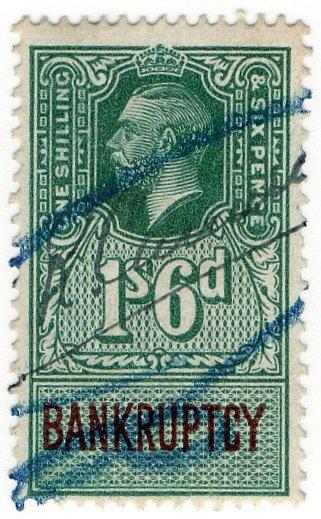 (I.B) George V Revenue : Bankruptcy 1/6d
