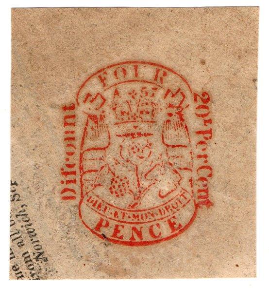 (I.B) George IV Revenue : Newspaper Duty 4d