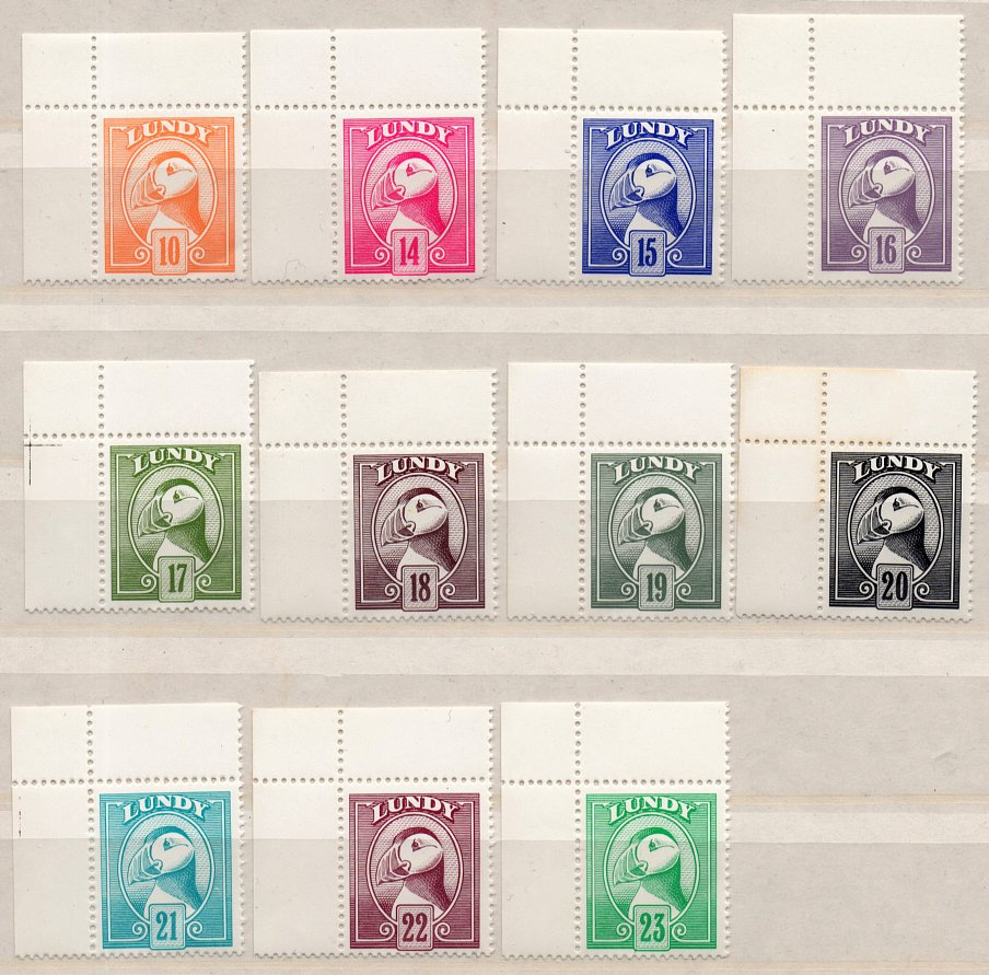 (I.B) Cinderella Collection : Lundy Puffin Definitives