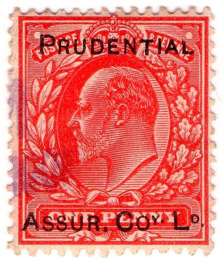 (I.B) Edward VII Commercial Overprint : Prudential Assurance