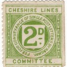 (I.B) Cheshire Lines Committee Railway : Letter Stamp 2d