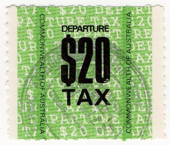 (I.B) Australia Revenue : Departure Tax $20