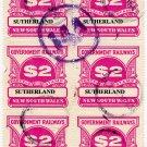 (I.B) Australia - NSW Railways Parcel $12 (Sutherland)